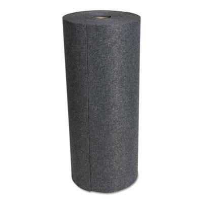"""Hospeco SureGrip Absorbent Adhesive Floor Mat, Indoor/Outdoor, 34"""" x 100 ft, Gray"""