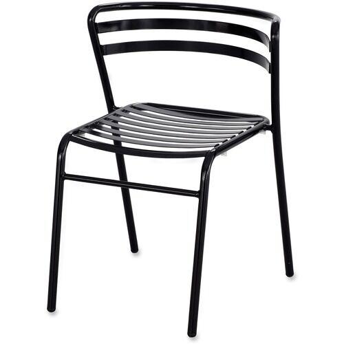 Safco CoGo Steel Outdoor/Indoor Stack Chair, Black, 2/Carton
