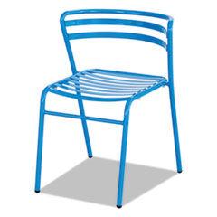 Safco CoGo Steel Outdoor/Indoor Stack Chair, Blue, 2/Carton