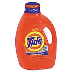 Tide HE Laundry Detergent, Original Scent, Liquid, 100oz Bottle, 4/Carton