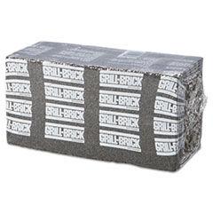 Premiere Pads Grill Brick, 8 x 4, Black, 12/Carton