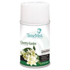 TimeMist Metered Fragrance Dispenser Refills, Country Garden, 6.6oz, 12/Carton
