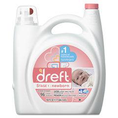 Dreft Ultra Laundry Detergent, Liquid, Baby Powder Scent, 150 oz Bottle