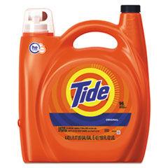 Tide HE Laundry Detergent, Original Scent, 150 oz Pump Bottle, 4/Carton