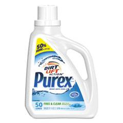 Purex Free and Clear Liquid Laundry Detergent, Unscented, 75 oz Bottle, 6/Carton