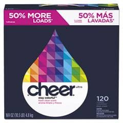 cheer Powder Laundry Detergent, Fresh Clean Scent, 169oz Box, 2/Carton