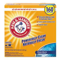 Arm & Hammer Powder Laundry Detergent, Clean Burst, 11.9 lb, Box, 3/Carton