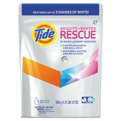 Tide Brights + Whites Rescue In-Wash Laundry Booster Pacs, 27 Pac/Bag, 4 Bag/CT