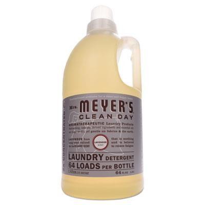Mrs. Meyer's Liquid Laundry Detergent, Lavender Scent, 64 oz Bottle, 6/Carton
