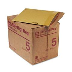 Sealed Air Jiffy Rigi Bag Cushioned Envelopes, #5, 10 1/2 x 14, Natural Kraft, 150 Per Carton