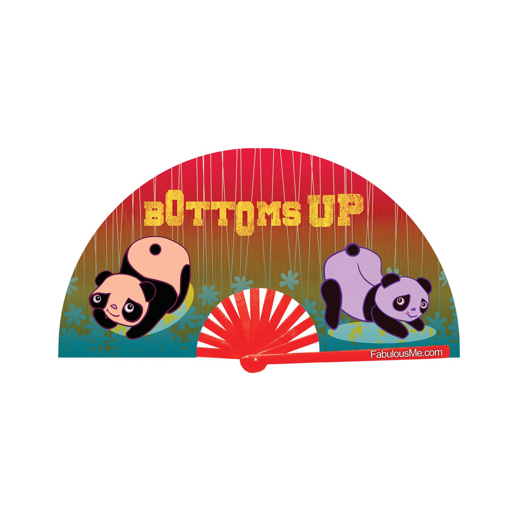 JJMalibu Plur Panda Bottoms Up v2 Fan (UV Glow)