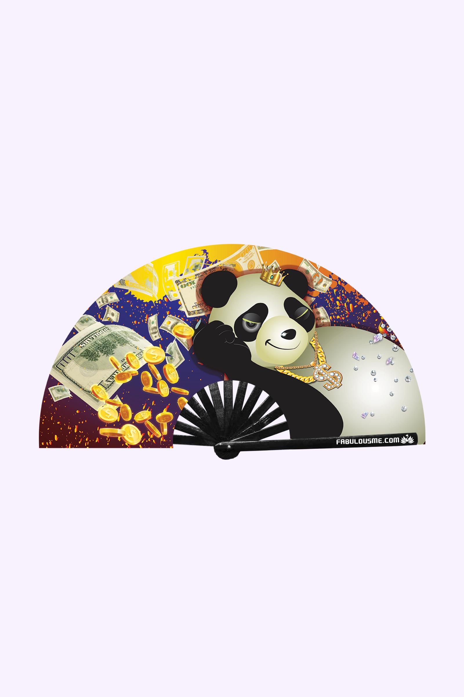 JJMalibu Crazy Rich Panda Fan (UV Glow)