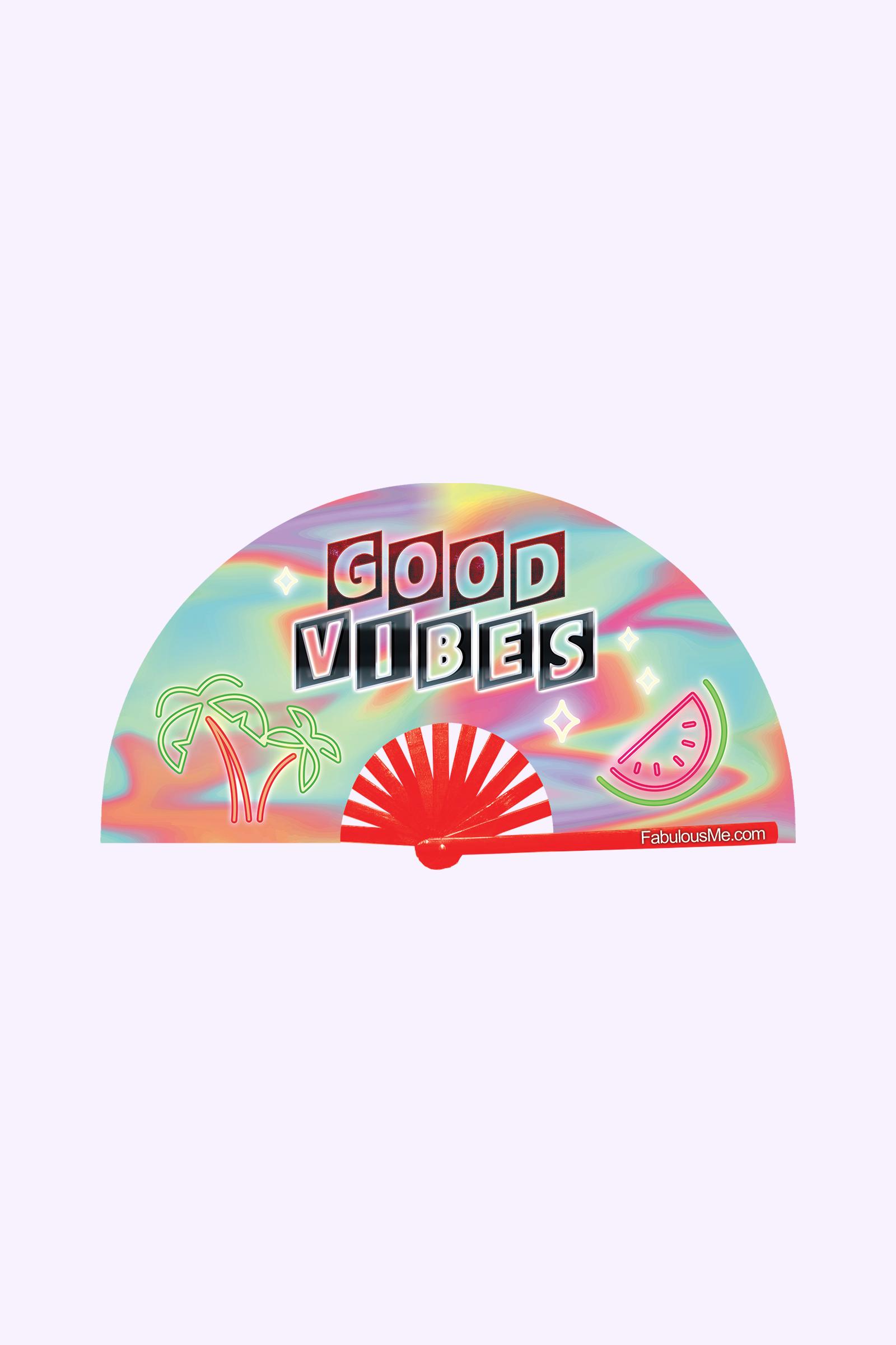 JJMalibu Good Vibes Fan (UV Glow)