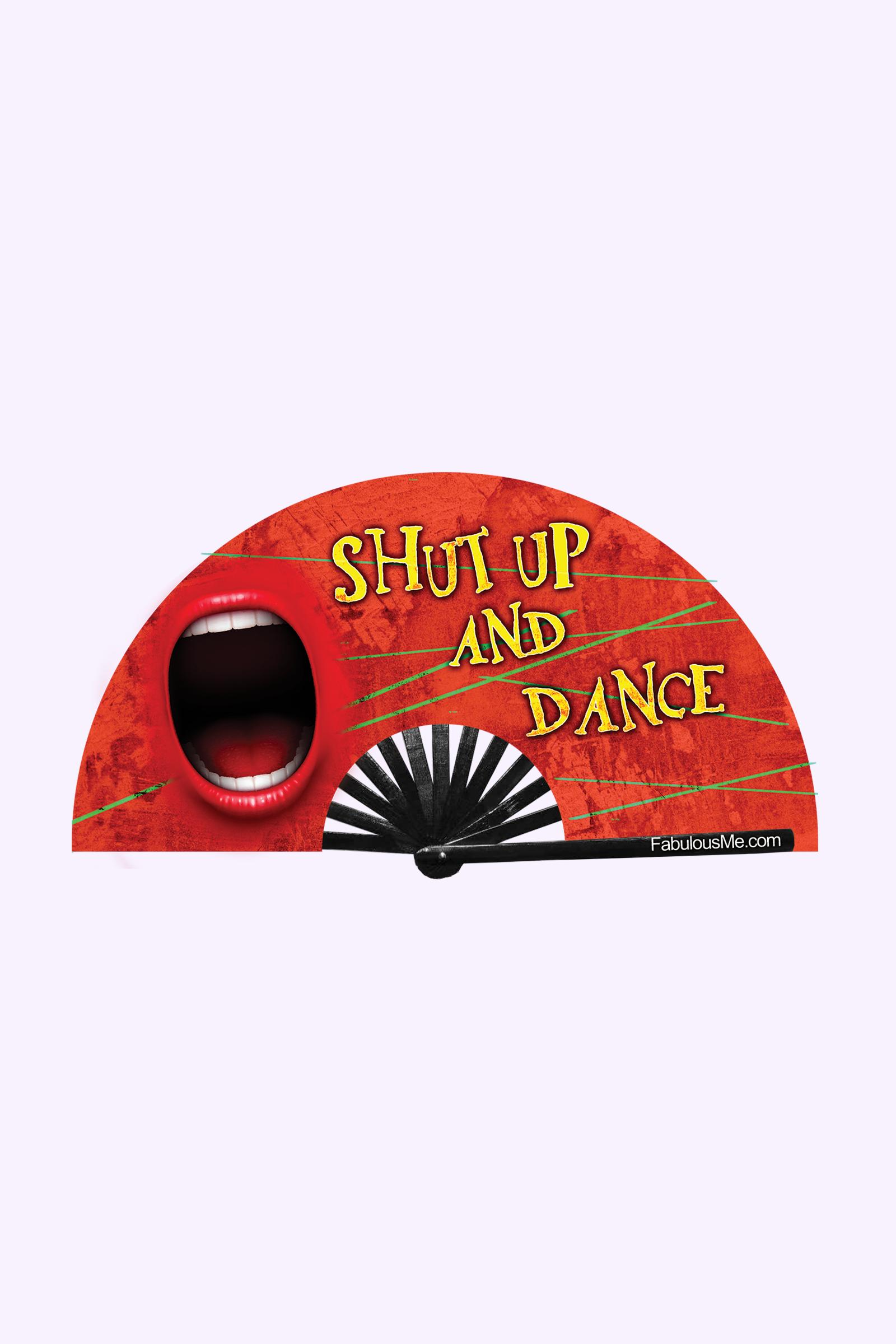 JJMalibu Shut Up and Dance Fan (UV Glow)