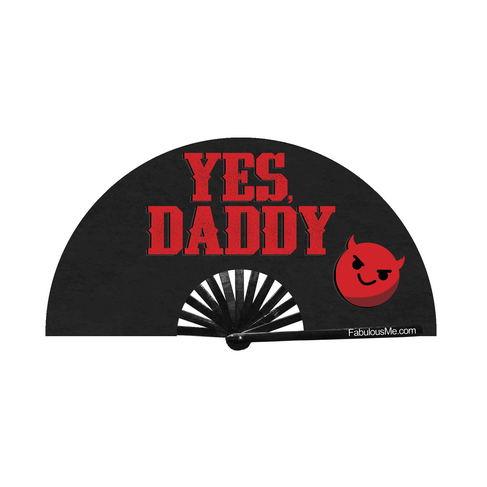 JJMalibu Yes, Daddy Fan (UV Glow)