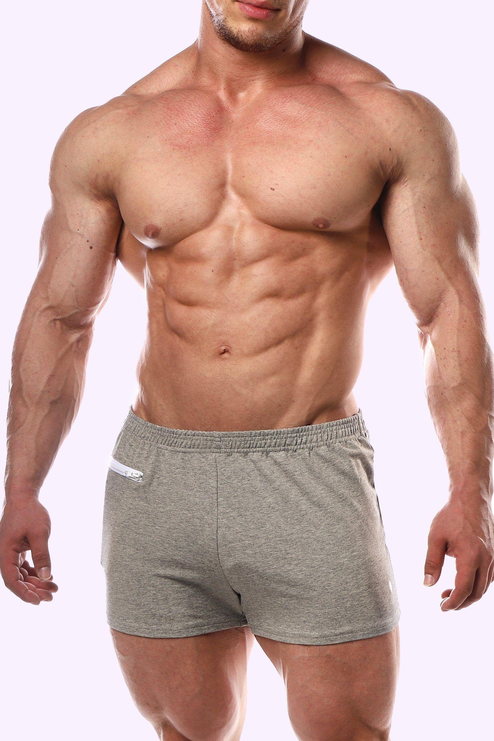 JJMalibu Varsity Short Shorts - Light Grey