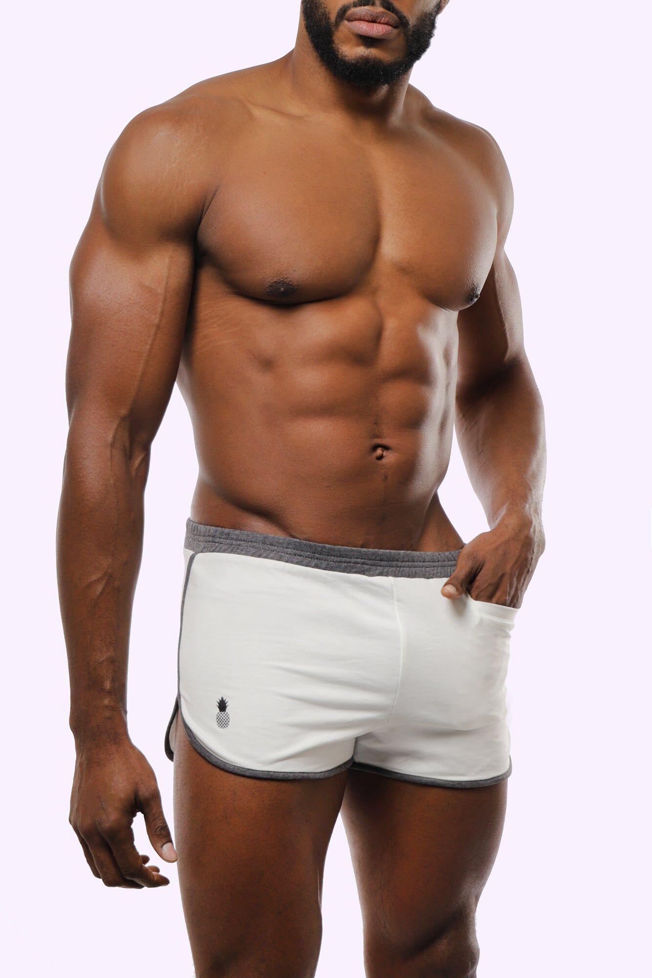 JJMalibu Booty Short Shorts - White