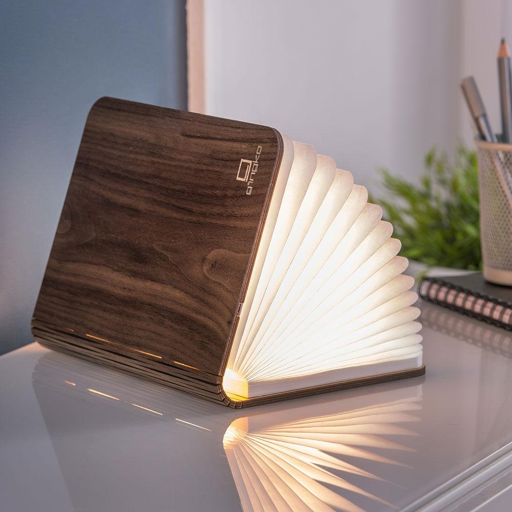Mini Smart Book Light - Walnut