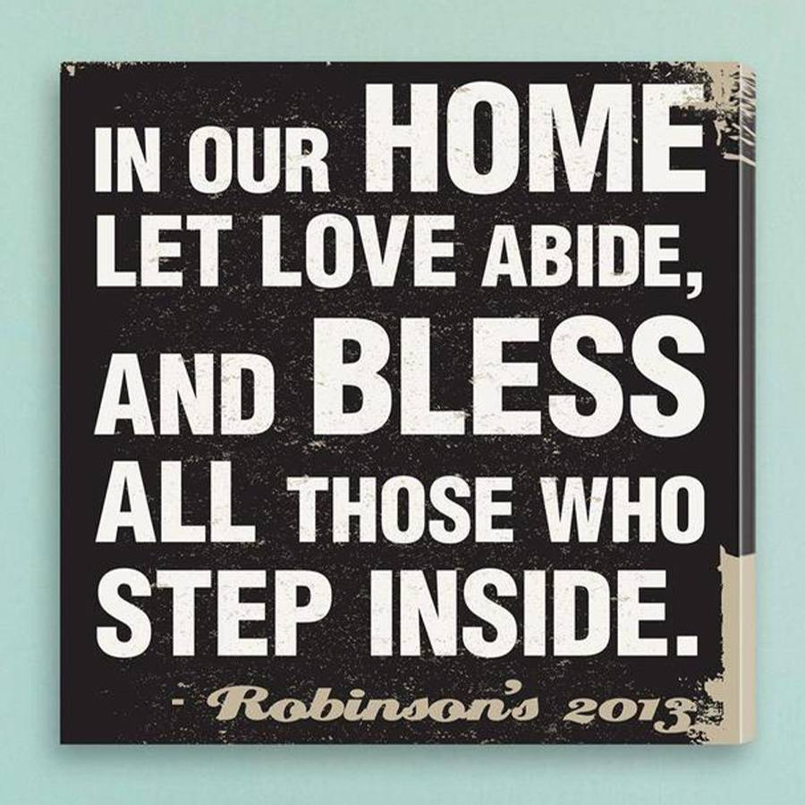 JDS Marketing & Sales Personalized In Our Home Subway Style Prayer Canvas