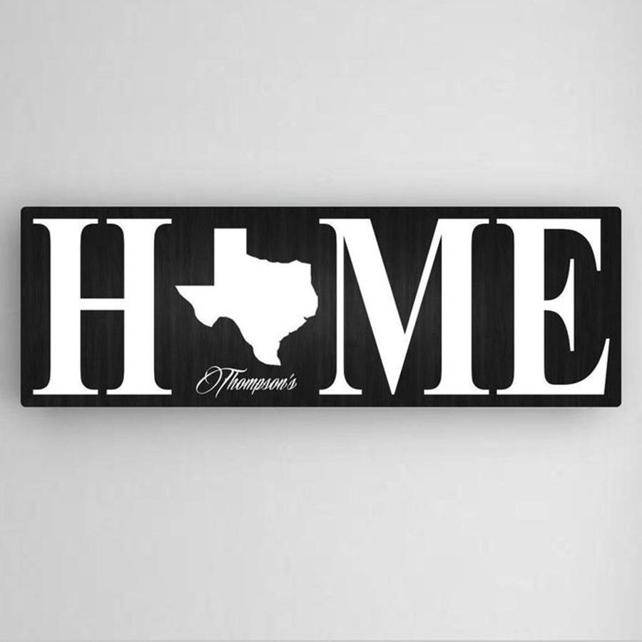 JDS Marketing & Sales Customized Home State Accented Canvas Sign