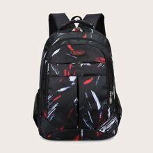 SHEIN Men Graphic Backpack  - Black