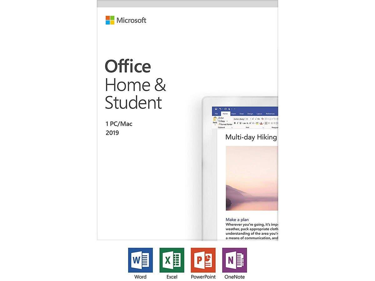 Microsoft Office Home and Student 2019   1 device, Windows 10 PC/Mac Key Card (79G-05186 )