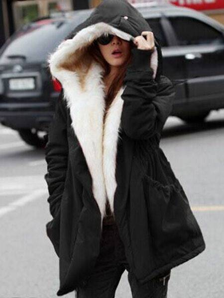 Ericdress Military Winter Casual Outdoor Hoodie Trench Parkas Womens Overcoat