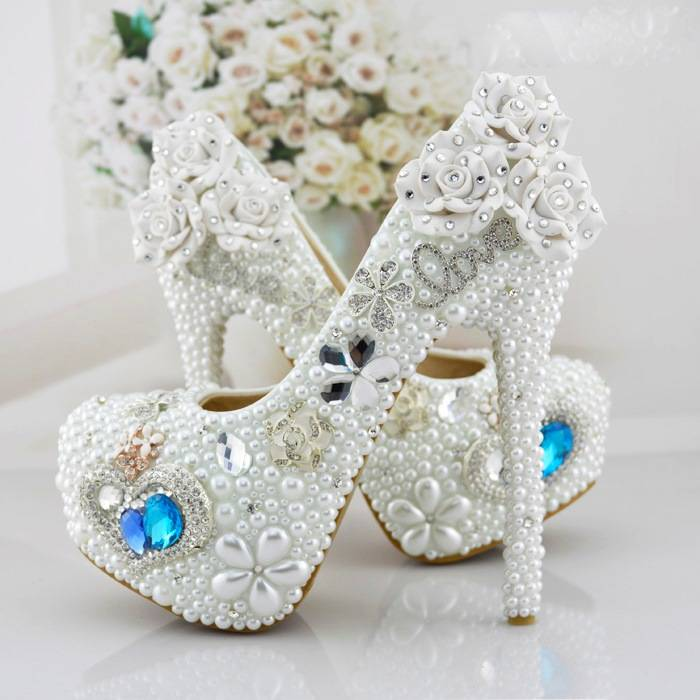 Pearl Ericdress White Pearl&crystal Wedding Shoes