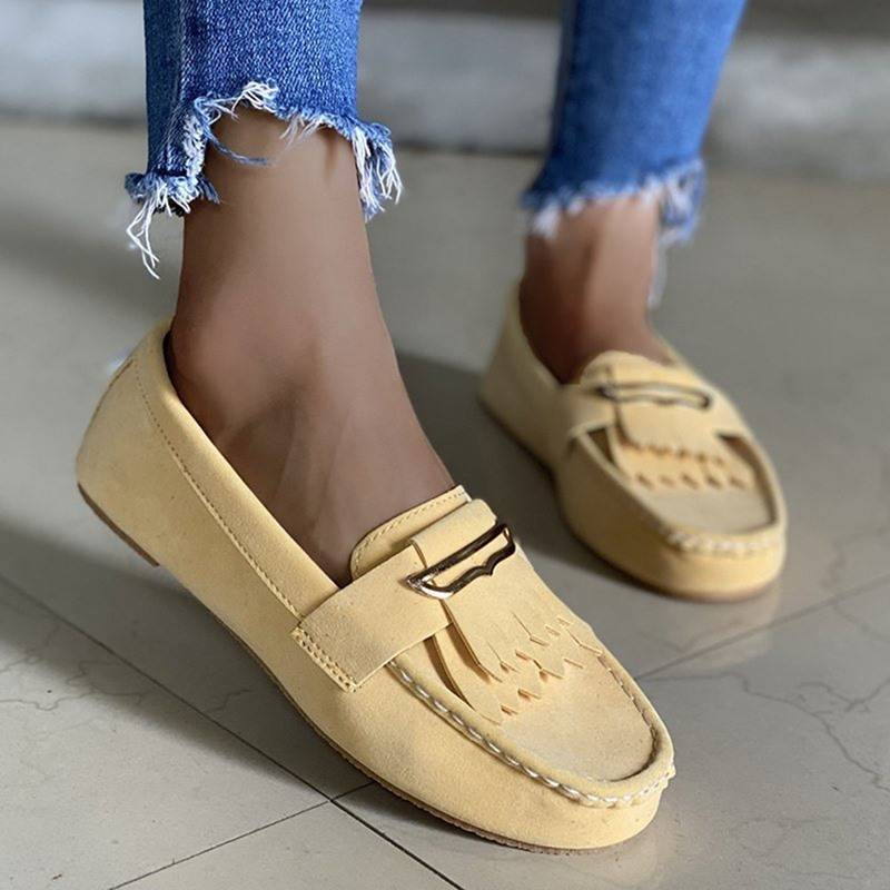 Ericdress Slip-On Round Toe Flat With Casual Thin Shoes
