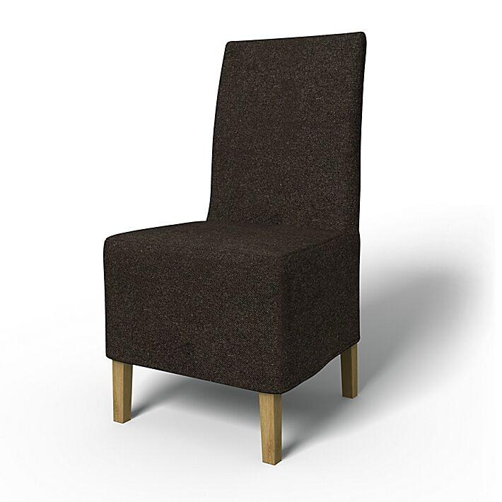 Bemz IKEA - Henriksdal Dining Chair Cover Medium skirt (Large model), Graphite Grey, Conscious - Bemz
