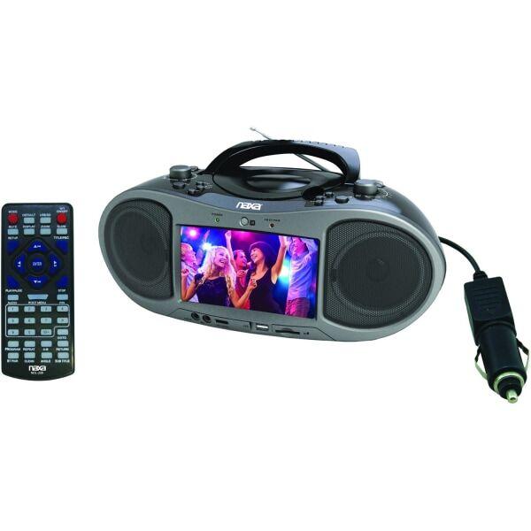 Naxa NDL-256 - DVD player - Bluetooth - portable - display: 7