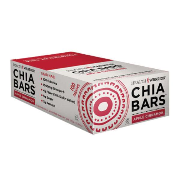 Health Warrior Chia Bars, Apple Cinnamon, 0.88 Oz, Pack Of 15