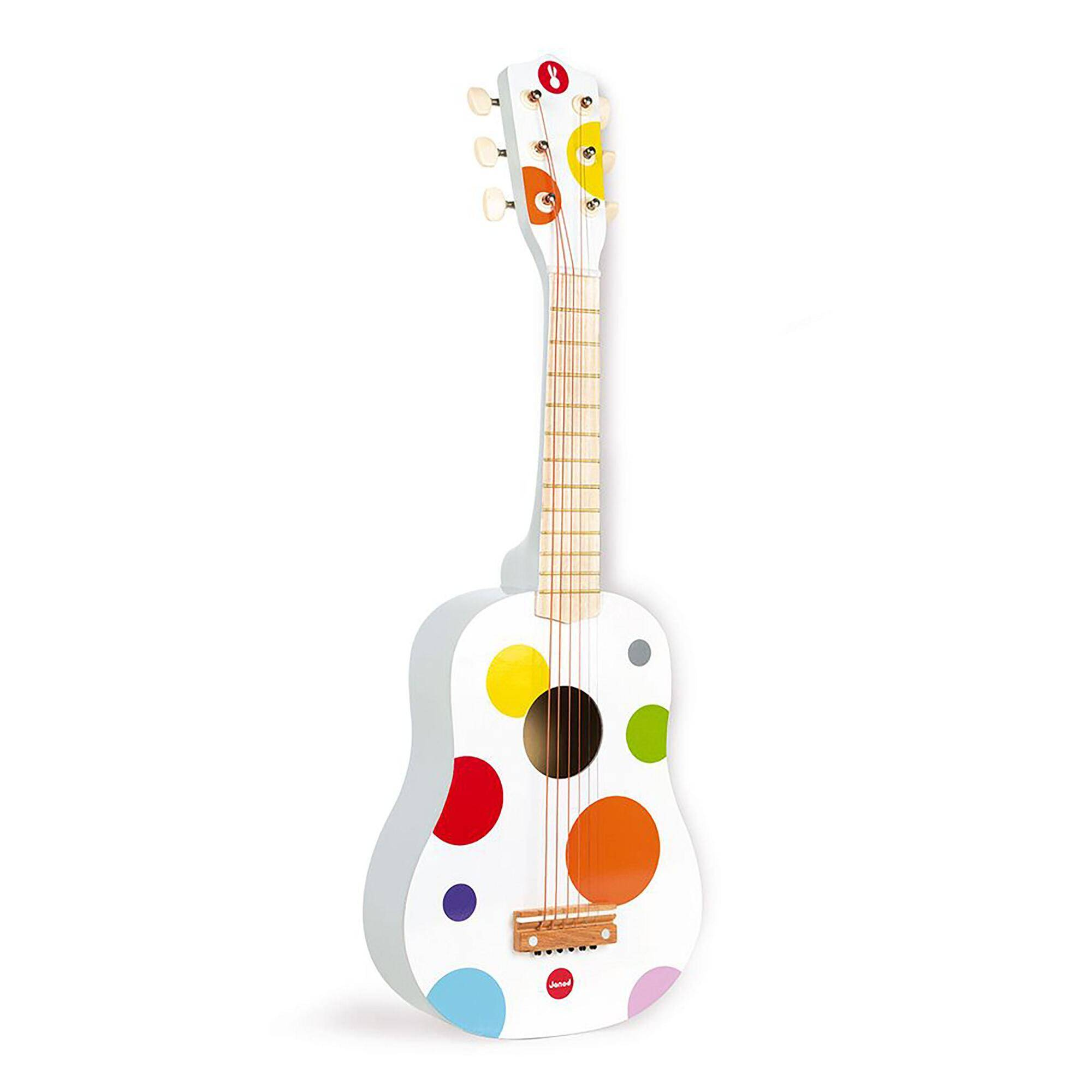World Market Janod White Confetti Guitar Musical Toy by World Market