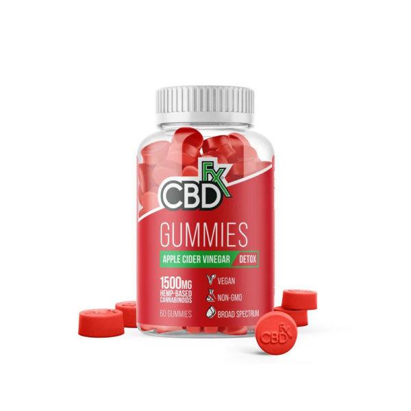 Apple CBDfx CBD Gummies with Apple Cider Vinegar 300mg 60 Count
