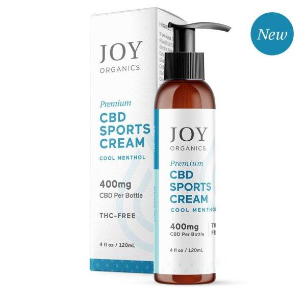 Joy Organics CBD Sports Cream 400mg 4oz