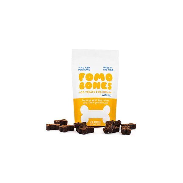 FOMO Bones CBD Soft Chews For Small Dogs - Calming 5mg 20 Count