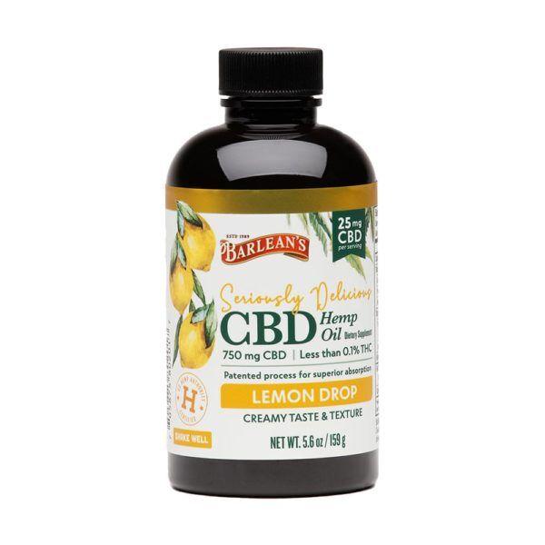 Barleans Seriously Delicious CBD Hemp Oil Lemon Drop 25mg