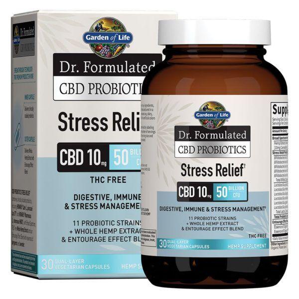 Dr. Formulated CBD Probiotics Stress Relief Softgels 10mg 30 Count