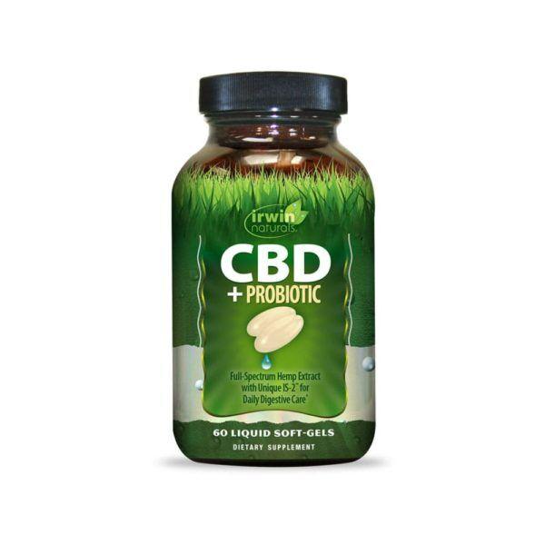 Irwin Naturals CBD +Probiotic Capsules 60 Count