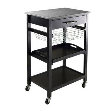 Winsome Kitchen Utility Cart - Black - Winsome