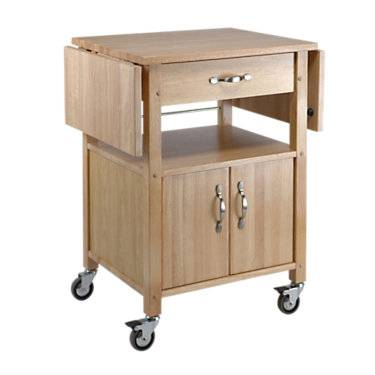 Winsome Kitchen Cart with Double Drop Leaves - Beach - Winsome