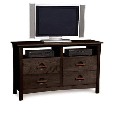 Copeland Furniture Berkeley 4-Drawer Dresser and TV Stand - Cherry - Wood - CP2BER46-53