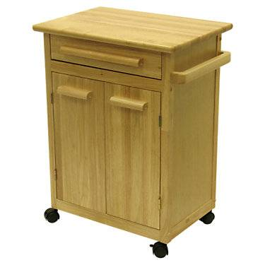 """Winsome Kitchen Cart with One Drawer - Natural - 34.30"""" h x 26.90"""" w x 18.20"""" d - Winsome"""