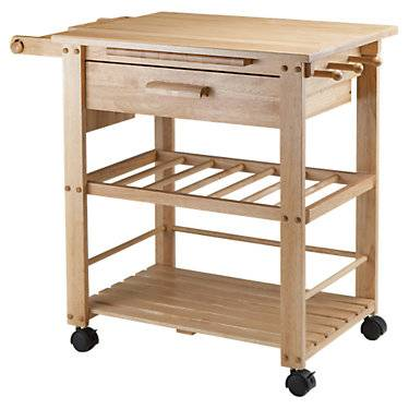 """Winsome Finland Kitchen Cart - Natural - 31.50"""" h x 35"""" w x 20.50"""" d - Winsome"""