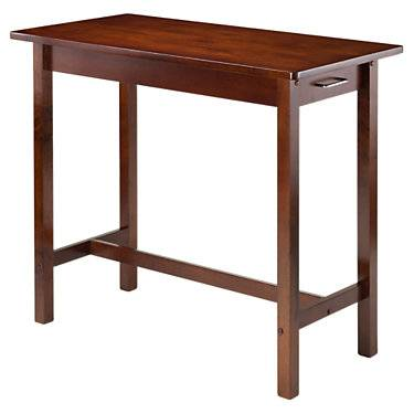 """Winsome Parker Kitchen Island Table with 2 Drawers - Walnut - 33.27"""" h x 39.37"""" w x 19.69"""" d - Winsome"""
