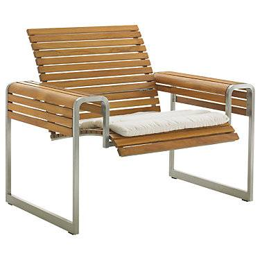 "Tommy Bahama Outdoor Tres Chic Lounge Chair by Tommy Bahama Outdoor - 30"" h x 37.5"" w x 30"" d - Steel"