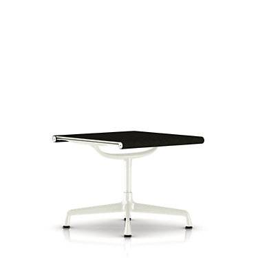 "Herman Miller Authentic Herman Miller Eames Aluminum Outdoor Ottoman Chair - White - 18.75"" h x 21.5"" w x 21"" d - Polyester/Leather"
