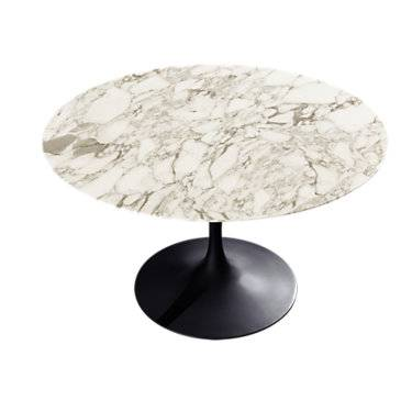 """Knoll Authentic Knoll Saarinen Round Dining Table. 47"""" - 28.25"""" h x 47"""" dia - Wood/Metal - KN176T1MECMB"""