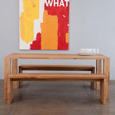 """MASHstudios LAX Series Edge Dining Table Set by MASHstudios - Walnut - 29"""" h x 72"""" w x 36"""" d - Metal/Steel - LAX.DT002SET-T-ENGLISH WALNUT"""
