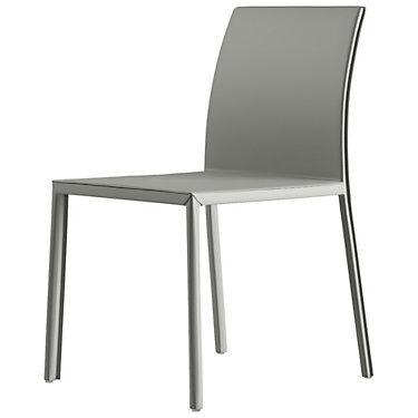 Modloft Sanctuary Dining Chair by Modloft - Black - Steel/Leather